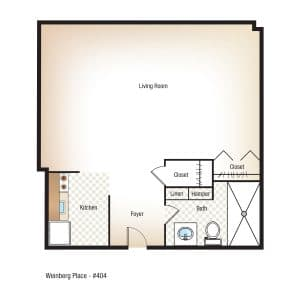 Studio | 1 Bathroom $Call for Pricing