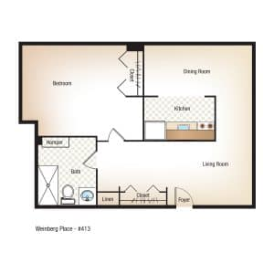 1 Bedroom | 1 Bathroom $Call for Pricing